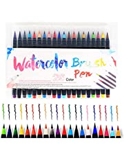 U Life Watercolor Brush Pens Art Marker for Drawing Coloring Books Manga Calligraphy School Supplies Stationery 20 pcs
