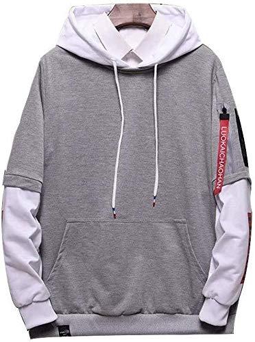 QJY Heren Half Cap Hoodie Ronde hals Pullover Sweatshirt Sweatshirt