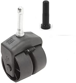 Bed Frame Replacement Wheel/Caster Roller with Lock/Brake & Socket Sleeve