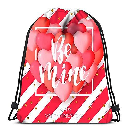 Lmtt Drawstring Bags Backpack Valentine Day Tissue Paper Tassel Garland Banner Travel Gym Bags Rucksack Shoulder