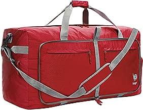 Bago 100L Travel Duffle Bag - Foldable Weekender Bag For Women & Men - Lightweight tier-resistant waterproof Shoe Pocket (Red)