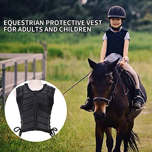 JIUCHEN Horse Riding Vest, Equestrian Body Protector  EVA Equestrian Vest for Unisex Adults Boys Girls Children