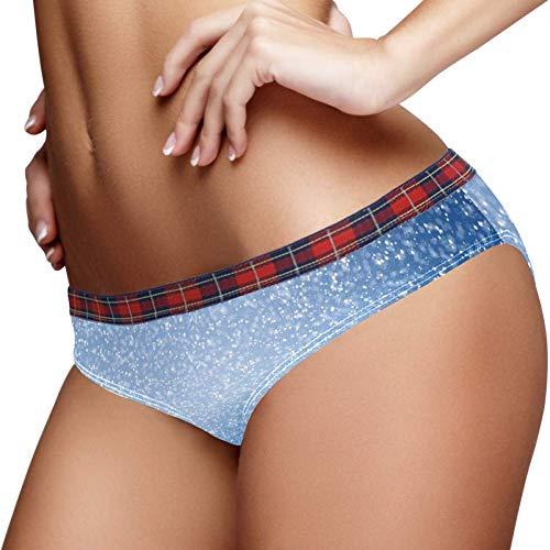 TIZORAX blauwe en witte vonken behang vrouwen ondergoed Bikini Fashion dames korte slipje