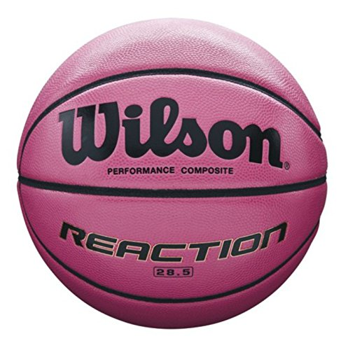 Wilson All Surface-Basketball, Wettkampf, Asphalt, Sportparkett, Größe 6, REACTION, Pink, WTB1218XD06
