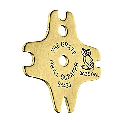 Safe Brass BBQ Grill Cleaner - These Heavy Duty Tools are Safer Than A Wire Brush - Functional Gifts for Men Who Have Everything - Regalos para Hombre - Filler for Christmas Stockings from The Sage Owl