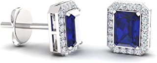 Best sapphire and diamond earring studs Reviews