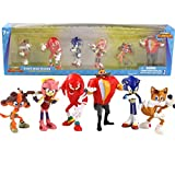 5~7cm 6pcs / Set Boom Rare Doctor's Tail Character PVC Sonic Figura de acción Modelo Juguete para niños Regalo