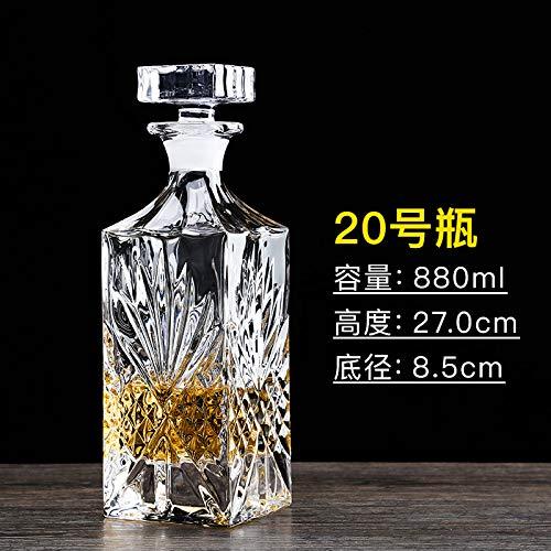GAO Gaofabricant De Vin De Réveil De Verre De Whisky avec Le Vin Rouge Européen De Bouteille en Cristal Maison Décorative Bouteille No.20
