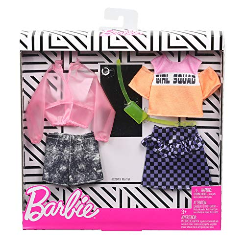 Barbie GHX58 - Fashions 2er-Pack Moden Jacket and Checkers, 2 Outfits und 2 Accesoires für die Barbie Puppe