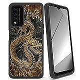 Rossy Funda T-Mobile REVVL V Plus 5G, resistente de doble capa híbrida, de silicona suave, protección a prueba de golpes, funda para teléfono T-Mobile Revvl V+5G 6.8 pulgadas 2021, dragón chino