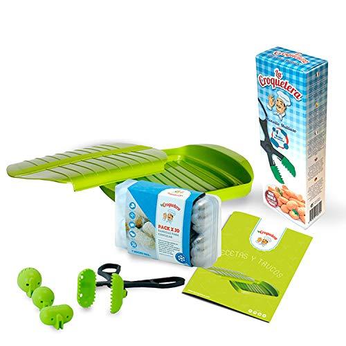 Kit regalo ideale per cotone: custodia in silicone per cottura a vapore + utensile per croquetera + vassoi per conservazione + ricettario La croquetera