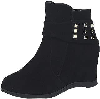 UOKNICE Platform Wedge Heel Boots Women High Increasing Shoes Platform Fashion Ccasual Boots