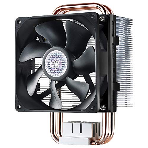 Cooler Master Hyper T2 Compact CPU Cooler Dual Looped, CDC Heat Pipes, 92mm PWM Fan, Aluminum Fins for AMD Ryzen/Intel LGA1151