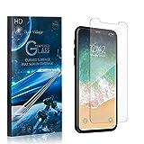 Bear Village® Displayschutzfolie für iPhone X/iPhone XS, 9H Hart Panzerglasfolie, Anti Kratzen, 99% Transparente Schutzfilm aus Gehärtetem Glas für iPhone X/iPhone XS, 1 Stück -