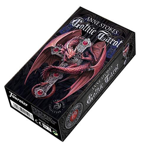 Fournier- Gothic Tarot by Anne Stokes Tarocchi in Stile Gotico per Collezionisti, Multicolore, F41590