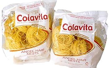 Colavita Imported Italian Angel Hair Capellini 100% Semolina Pasta Nests   2 packs of 16 Oz each
