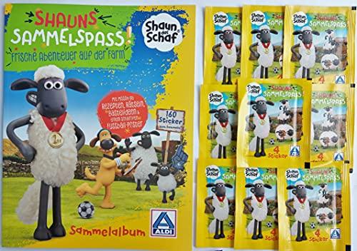 Sammelalbum leer + 10 Sticker Tüten Shaun das Schaf Sammelspass Stickeralbum Sammelaktion