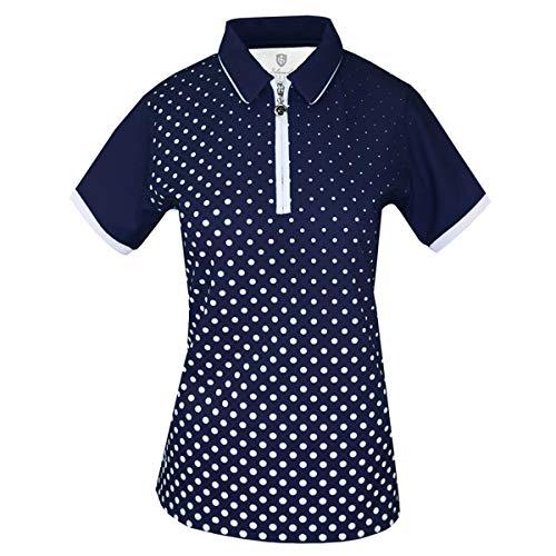 Island Green Polo de Golf pour Femme avec col zippé Sublimé et Respirant évacuant l'humidité,...