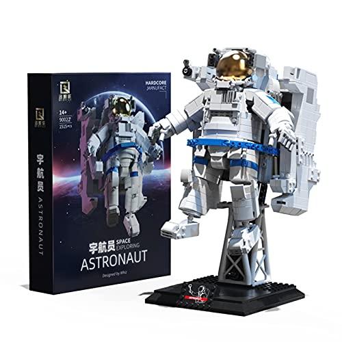 WANZPITS Espacio Explorando Astronauta 90022 Modelo Arquitectónico Decoración De Mesa Bloque De Construcción Estatua Space Cumply Cumpleaños Regalos, Compatibles con Lego, Nuevo 2021,(1515 Pieces)