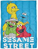 Sesame Street Weighted Blanket 4.5 lbs - Measures 36 x 48 inches, Kids Bedding Features Elmo, Cookie Monster, Big Bird, & Oscar The Grouch - Fade Resistant Super Soft - (Official Disney Product)