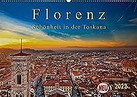Florenz - Schoenheit in der Toskana (Wandkalender 2022 DIN A2 quer): Florenz - wunderschoen und das kulturelle Highlight in der Toskana (Monatskalender, 14 Seiten )