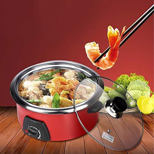 Cocoarm 5L Schongarer Slow Cooker Multifunktionales Haushalts Caldron Hot Pot Stewpot Kochwerkzeug EU Stecker