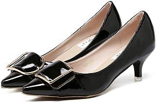 [OceanMap] 走れる ポインテッドトゥ パンプス 生地巻き 5センチ ヒール レディース ブラック 黒 グレー 灰 柔らか 痛くない 歩きやすい 低反発 甲浅 大人 美脚 結婚式 靴 二次会 オフィス 立ち仕事 通勤