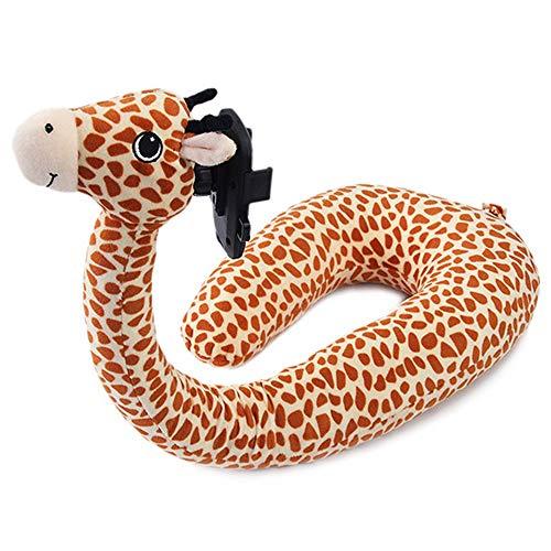 CGS2 2 en 1 Support de téléphone mobile for téléphone Xiaomi Voyage Oreiller en mousse à mémoire en forme de U Voyage Neck Pillow Neck Support Repose-tête Fournitures paresseux ( Size : Giraffe )