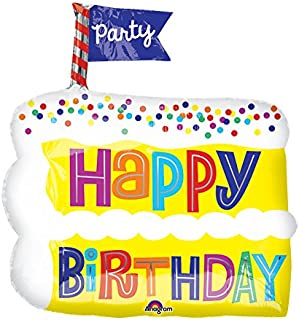 "Burton & Burton Hbd Birthday Cake Slice Toy Foil Balloon, 20"""