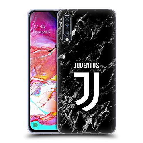 Head Case Designs Officiel Juventus Football Club Noir Marbre Coque en Gel Doux Compatible avec Samsung Galaxy A70 (2019)