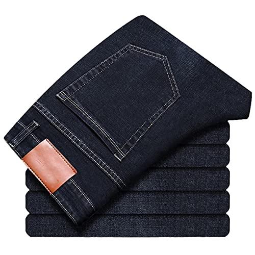 Pantalones vaqueros rectos elásticos para hombre de primavera y verano, Azul 8010, 32