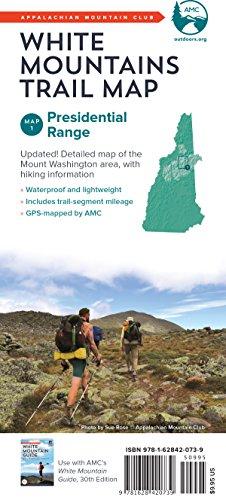 AMC White Mountains Trail Map 1: Presidential Range (Appalachian Mountain Club White Mountains Trail Map)