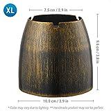 ecooe XL Windaschenbecher Bronze Edelstahl Aschenbecher für Draußen & Innen Groß Metall Tisch Ascher - 5