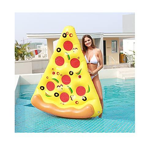 Backboards Verano Inflable Piscina,Plegable Gigante Pizza Flotador Colchón,Anillo Natación Playa Agua Floatie Air Juguete,Yellow