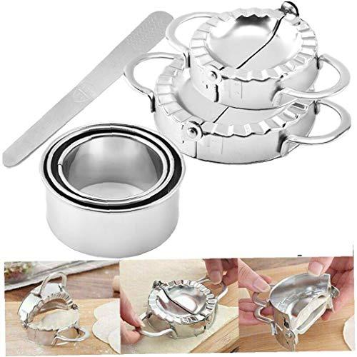 lulongyansf 6 Pc/Set Edelstahl Dumplings Maker Wonton Mold Dumpling Form Mit Teig Cutter Für Gebäck Werkzeuge Küchenzubehör Convenient Versorgung