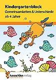 Kindergartenblock - Gemeinsamkeiten & Unterschiede ab 4 Jahre, A5-Block Für Kindergarten und Vorschule
