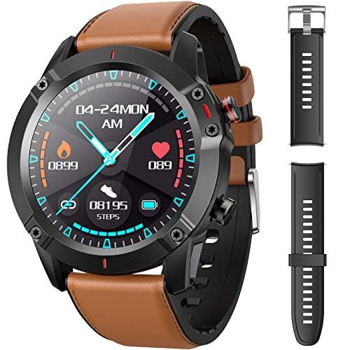 AGPTEK Smartwatch, Reloj Inteligente 1.3 Inch HD con Control de Podómetro Pulsómetro...