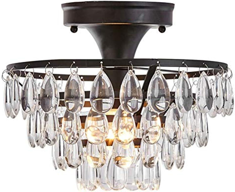 MMJ Moderne kristall Regentropfen kronleuchter Beleuchtung unterputz led deckenleuchte pendelleuchte für Schlafzimmer Wohnzimmer, 9,9  9,9  8,7 Zoll
