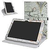 MAMA MOUTH ASUS Z300M / Z300C Rotación Funda, 360° Rotación PU Cuero con Soporte Funda Caso Case para 10.1' ASUS ZenPad 10 Z300C Z300CG Z300CL Z300CNL Z300M Android Tablet,Mapa