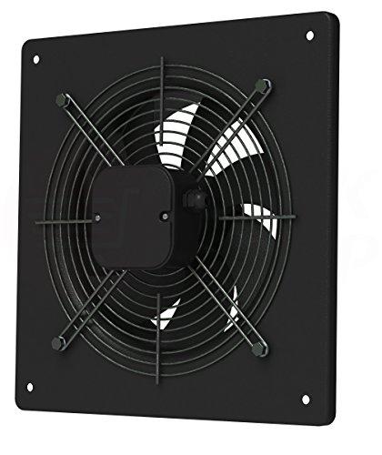 MKK Axial Ventilator Ø 250 mm schwarz Abluft Zuluft Rohrlüfter Radial Rohr Lüfter Absauglüfter Industrielüfter Absaugung