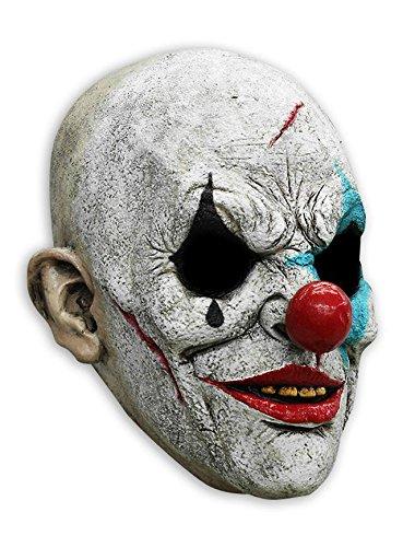 Close Up Horror Clown Vollmaske aus Latex in Universalgröße für Erwachsene