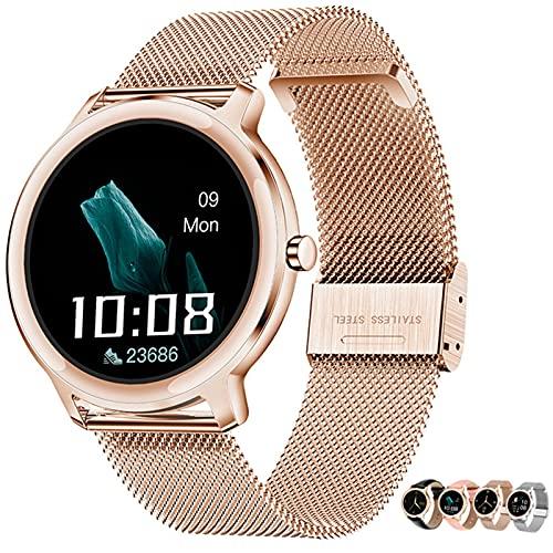 APCHY Smart Watch Reloj Inteligente,1.09'Pantalla Táctil De La Pantalla Táctil Fitness Modos Deportivos Activity Trackers Step Counter Watch con Ritmo Cardíaco Monitor De Sueño,Oro