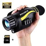 Visore Notturno Monoculare Digitale Infrarossi 5X35 con 32GB TF Carta HD Fotocamera Uso Diurno e Notturno...