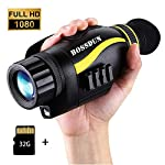 Digital Night Vision Monocular 5x35 Optics Scope Night Vision Infrared Monoculars with 32GB Card for Hunting Observe
