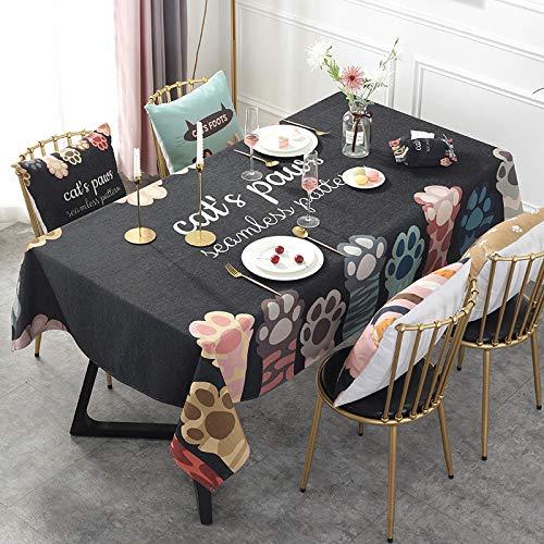 Mantel de tela hipster de dibujos animados Meow Garra de la serie de mantel de la mesa de café de la televisión del gabinete de la mesa del mantel rectangular 140 cm x 100 cm