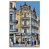 Premium Textil-Leinwand 80 x 120 cm Hoch-Format Grand Hotel