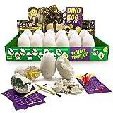 JoaSinc Kit di scavo di uova di dinosauro 12 Pezzi, Scopri 12 Diversi Dinosauri, Giocattolo Festa di Pasqua STEM Giocattoli Educativi di Apprendimento per 3 Anni e più Ragazzi Ragazze Bambini Regalo
