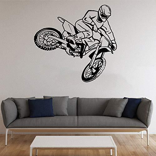 Wandaufkleber Motorrad Wandtattoo Motorradfahrer Vinyl Motorradclub Dekoration Aufkleber Wohnkultur für den Jugendraum 61x57 cm