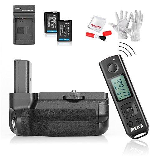 Meike MK-A6300 Pro Vertikal Batteriegriff für Sony alpha A6300 A6000 mit 2.4G Kabellos Fernbedienung und Pergear 3 im 1 Reinigung Set