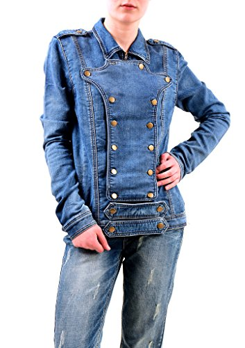 One Teaspoon Donna Cobaine Cavalry Denim Giacchetta Blu Dimensione L